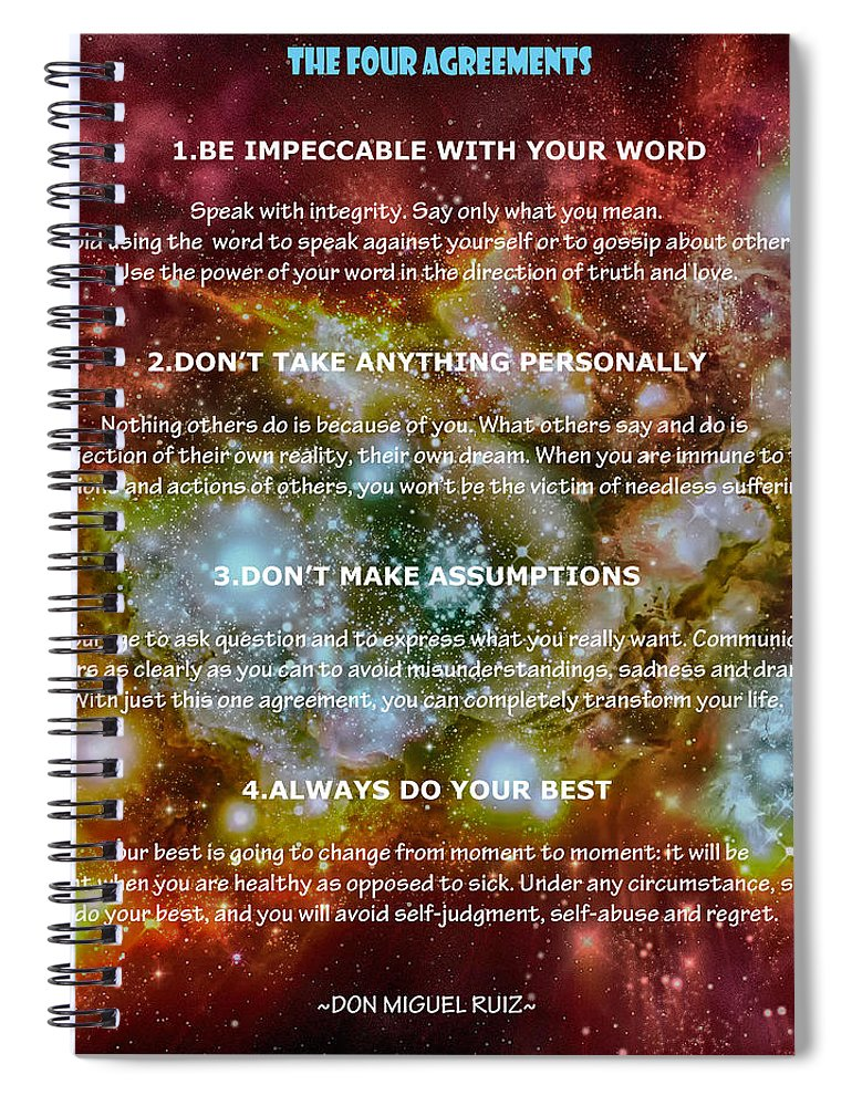 The Four Agreements Wisdom Of The Toltecs Spiral Notebook For Sale