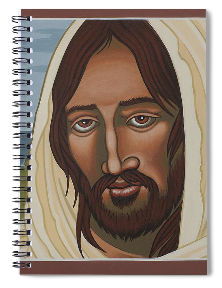 Jesus Spiral Notebook featuring the painting The Galilean Jesus 266 by William Hart McNichols