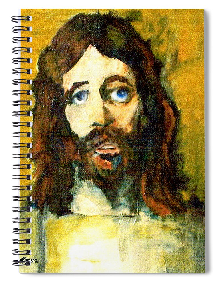 Jesus Christ Spiral Notebook featuring the painting The Galilean by Seth Weaver