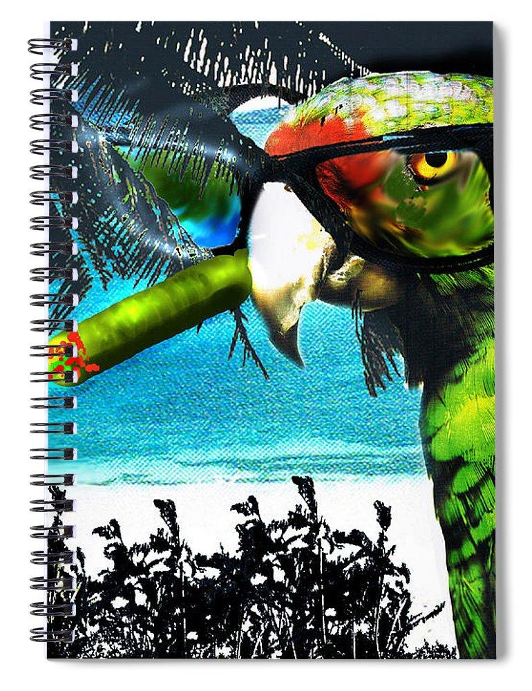 The Great Bird Of Casablanca Spiral Notebook featuring the digital art The Great Bird Of Casablanca by Seth Weaver