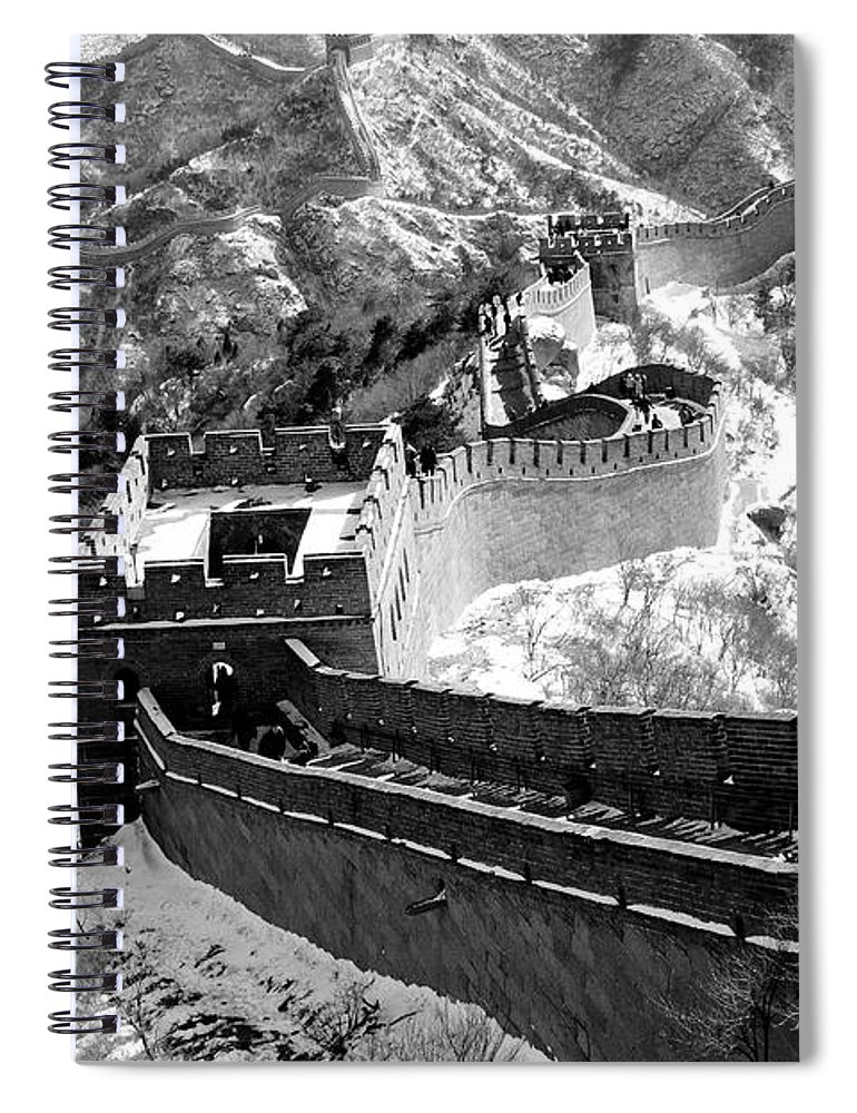 China Spiral Notebook featuring the photograph The Great Wall Of China by Sebastian Musial