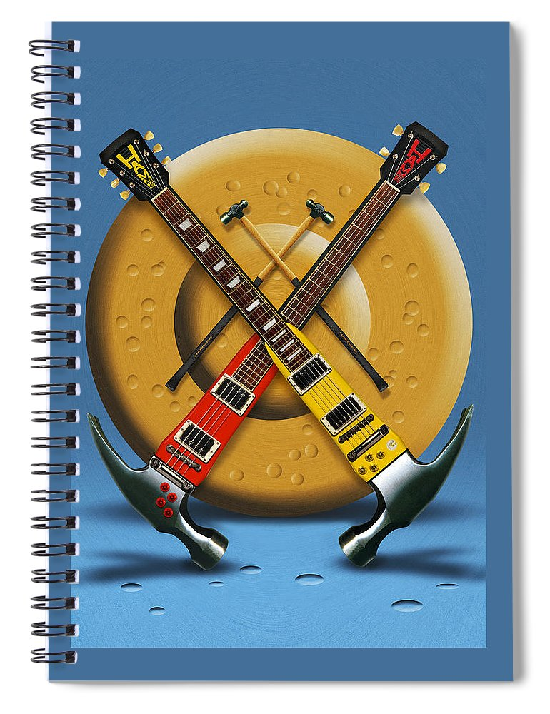 Rock And Roll Spiral Notebook featuring the photograph The Hammer by Mike McGlothlen