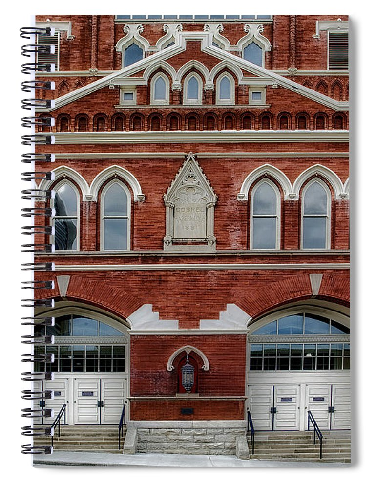 Ryman Auditorium Spiral Notebook featuring the photograph The Home Of Country Music by Mountain Dreams