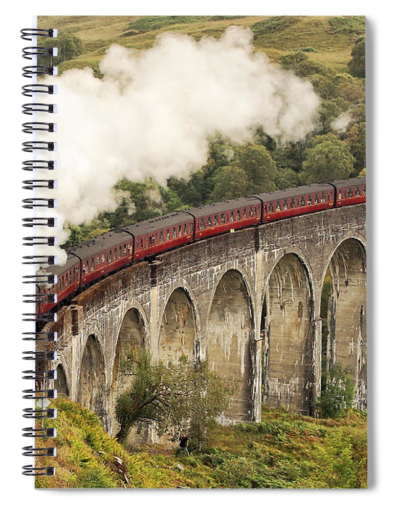 The Jacobite Spiral Notebook featuring the photograph The Jacobite by Grant Glendinning