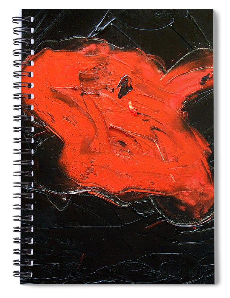 Surreal Spiral Notebook featuring the painting The last hope by Sergey Bezhinets