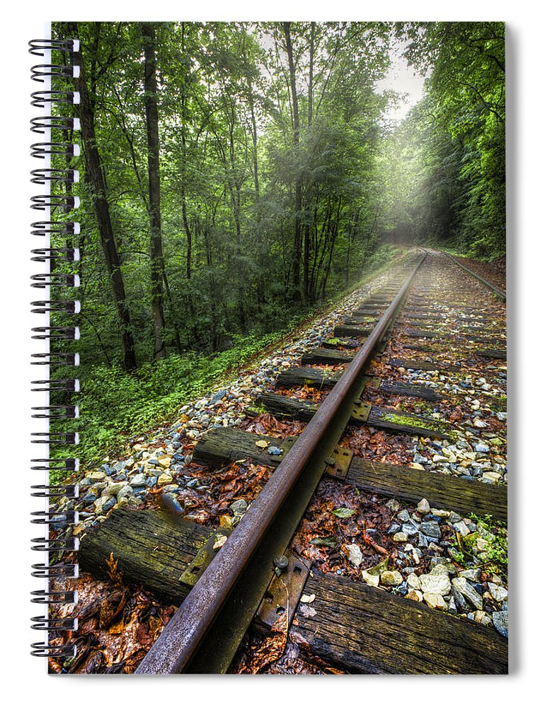 Andrews Spiral Notebook featuring the photograph The Line by Debra and Dave Vanderlaan