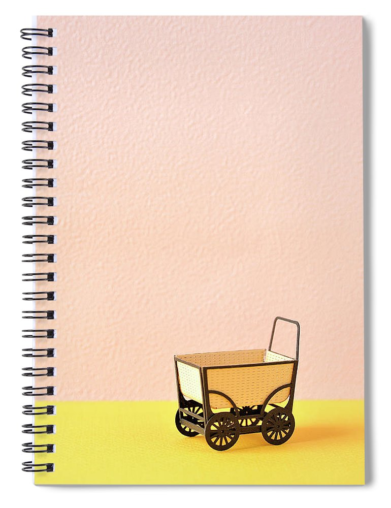 Baby Carriage Spiral Notebook featuring the photograph The Model Of The Baby Carriage Made Of by Yagi Studio