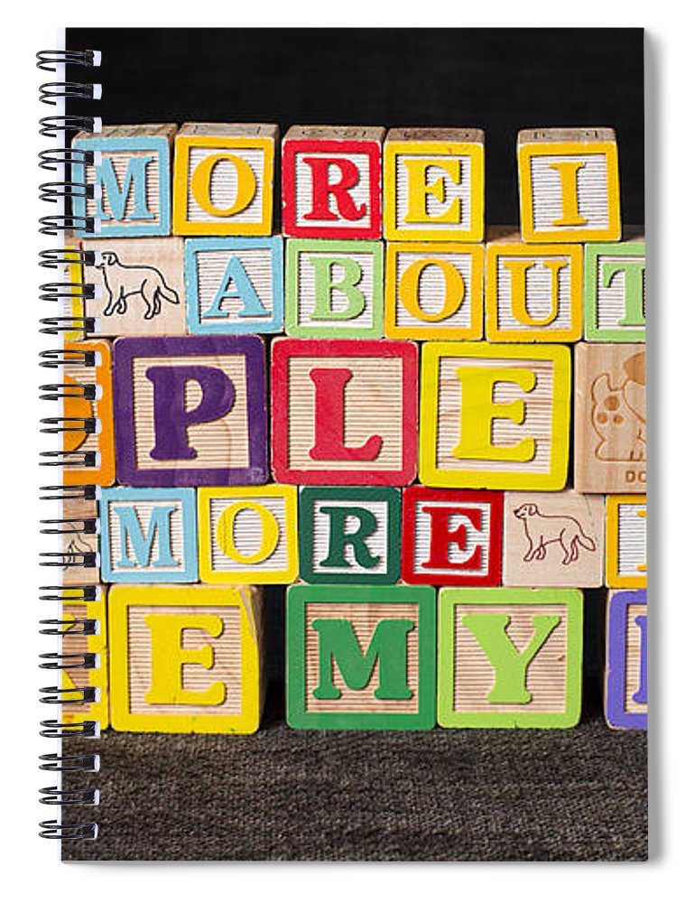 The More I Know About People Spiral Notebook featuring the photograph The More I Know About People The More I Like My Dog by Art Whitton