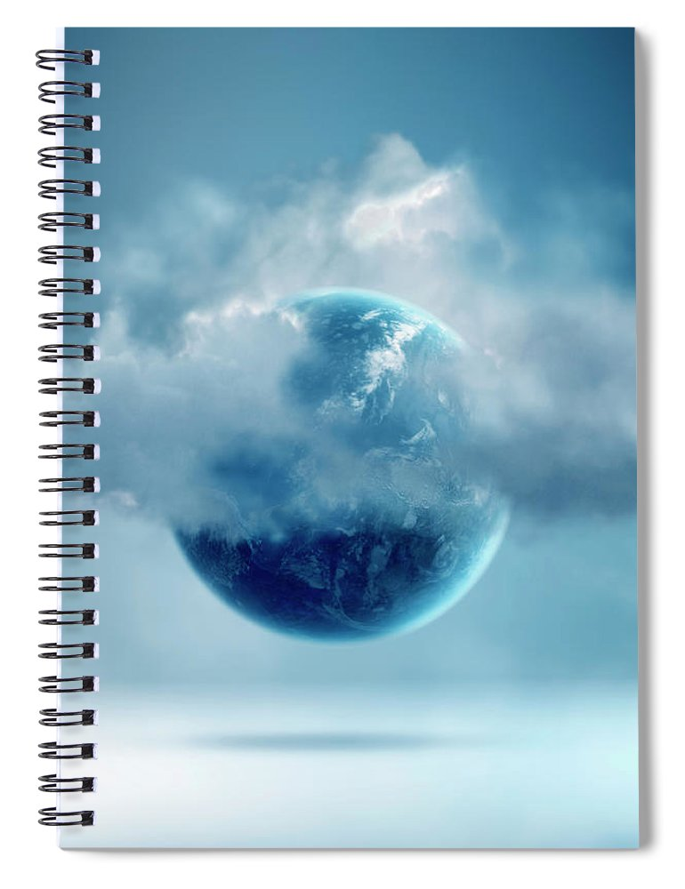 Tranquility Spiral Notebook featuring the photograph The New World Of Cloud Computing by Colin Anderson