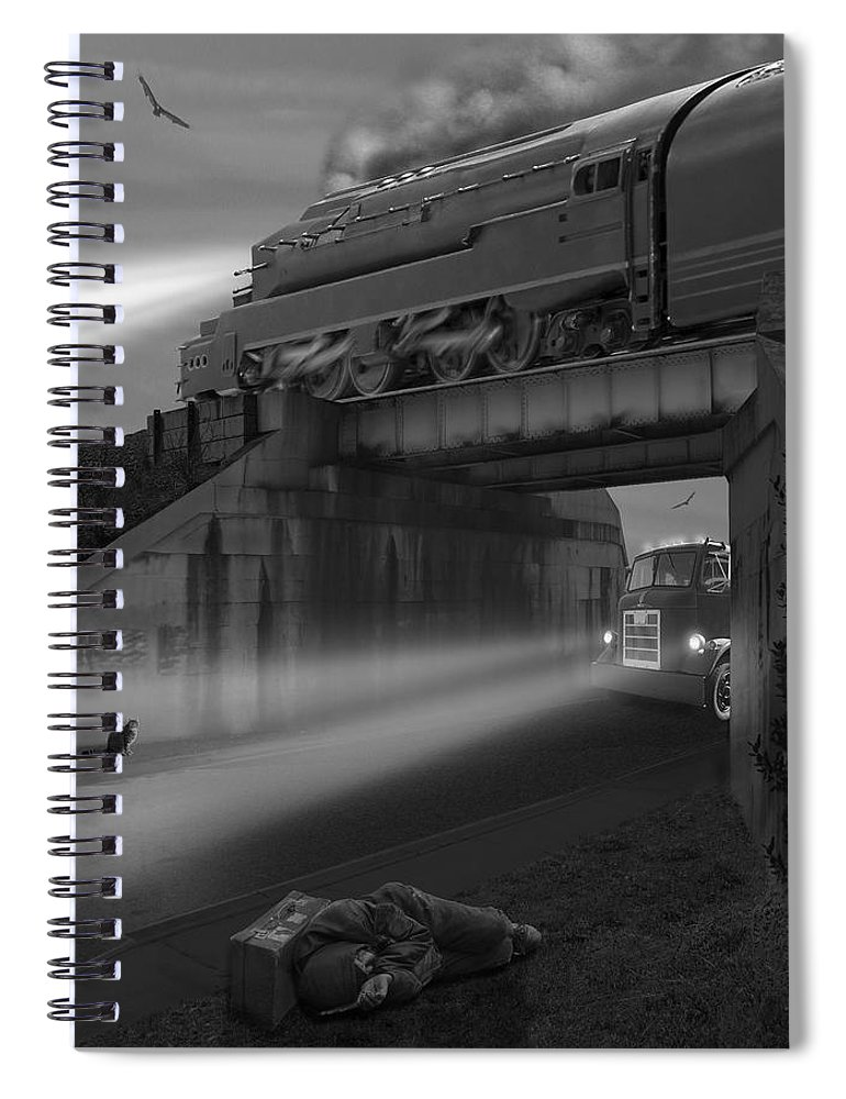 Transportation Spiral Notebook featuring the photograph The Overpass by Mike McGlothlen