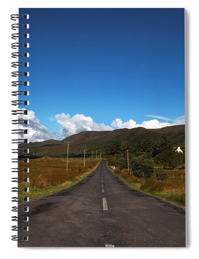 Photography Spiral Notebook featuring the photograph The R300 Road At Finny, County Mayo by Panoramic Images