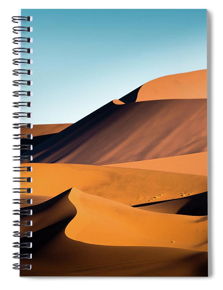 Sand Dune Spiral Notebook featuring the photograph The Red Sand Dunes In Namibia by José Gieskes Fotografie