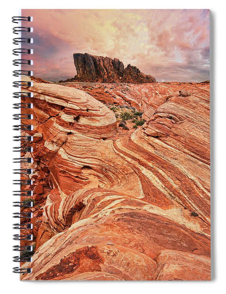 Scenics Spiral Notebook featuring the photograph The Sand Crawler by Lee Sie Photography