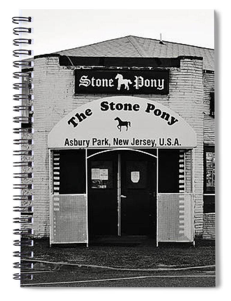 The Stone Pony Asbury Park New Jersey Spiral Notebook featuring the photograph The Stone Pony Asbury Park New Jersey by Terry DeLuco