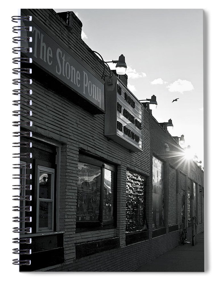 The Stone Pony Asbury Park Side View Spiral Notebook featuring the photograph The Stone Pony Asbury Park Side View by Terry DeLuco