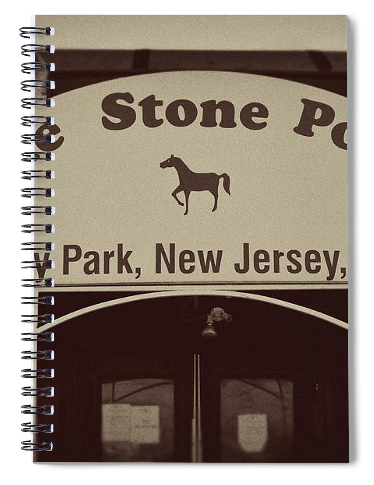 The Stone Pony Vintage Asbury Park New Jersey Spiral Notebook featuring the photograph The Stone Pony Vintage Asbury Park New Jersey by Terry DeLuco