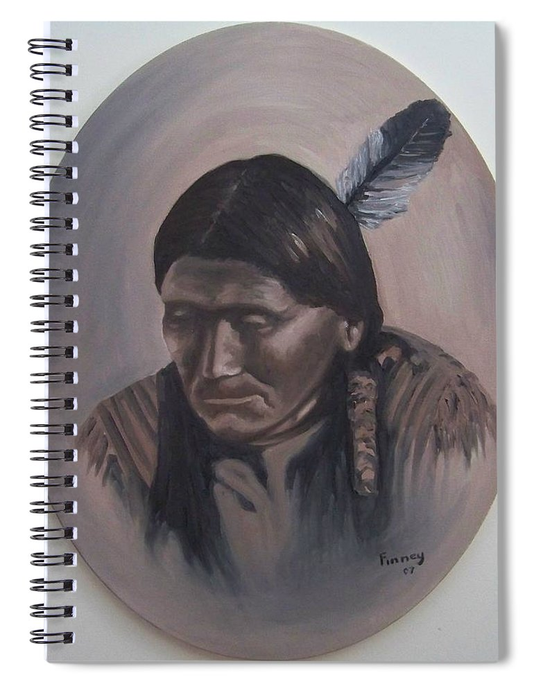 Michael Spiral Notebook featuring the painting The Story Teller by Michael TMAD Finney