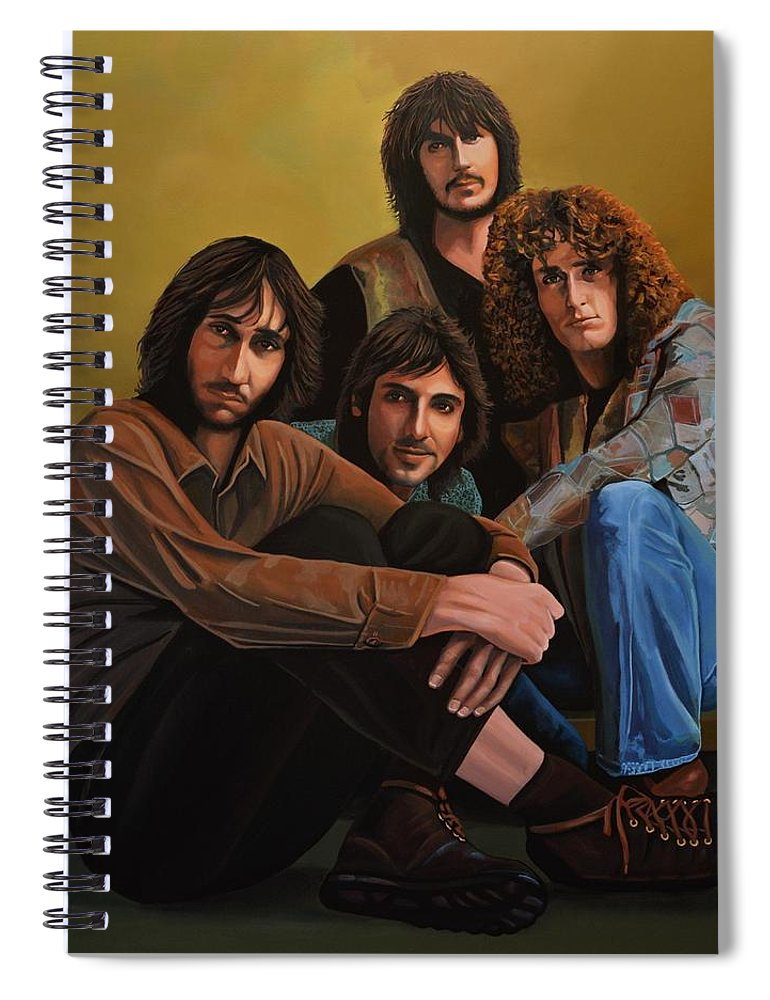 The Who Spiral Notebook featuring the painting The Who by Paul Meijering