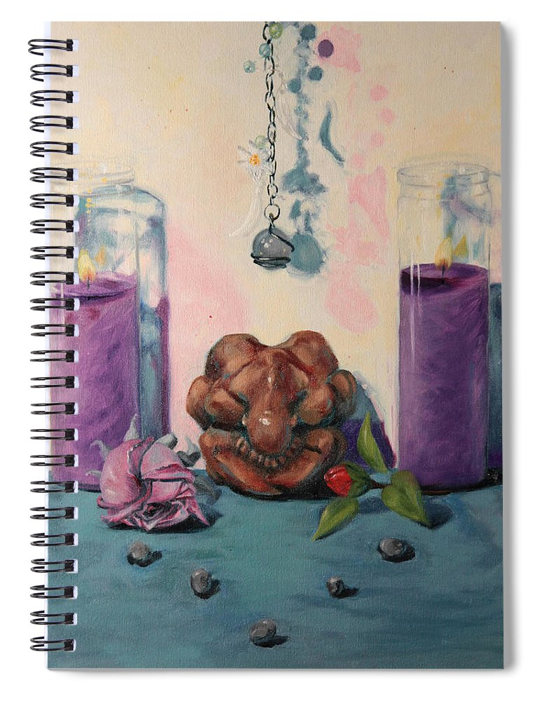 Mourning Spiral Notebook featuring the painting They Are Gone We Are Here by Shelley Irish