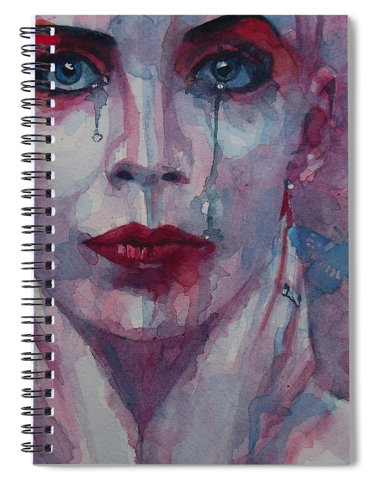 Annie Lennox Spiral Notebook featuring the painting This Is The Fear This Is The Dread These Are The Contents Of My Head by Paul Lovering