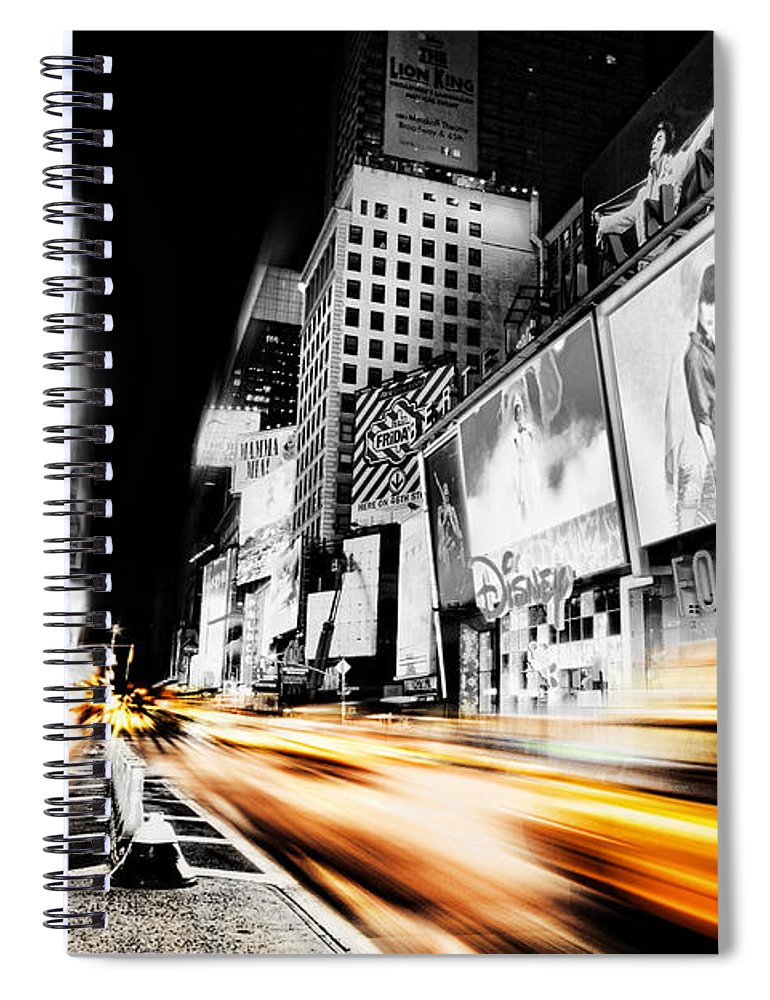 Times Spiral Notebook featuring the photograph Time Lapse Square by Andrew Paranavitana