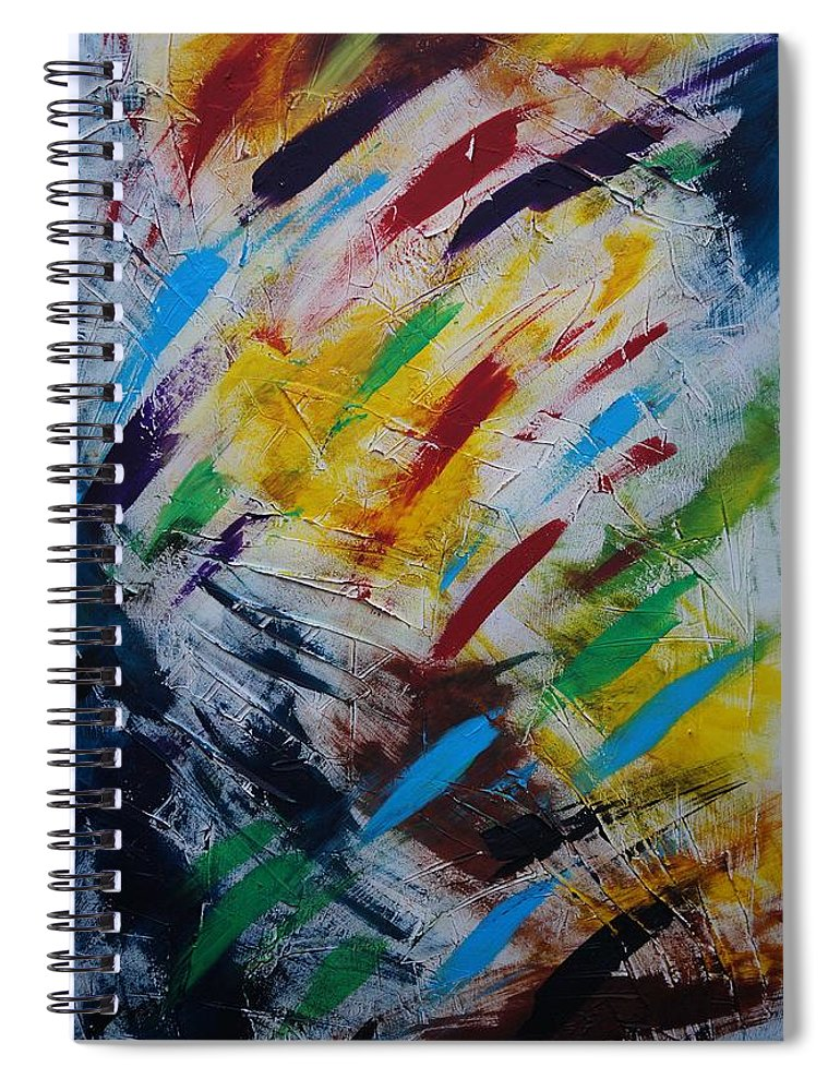 Abstract Spiral Notebook featuring the painting Time stands still by Sergey Bezhinets