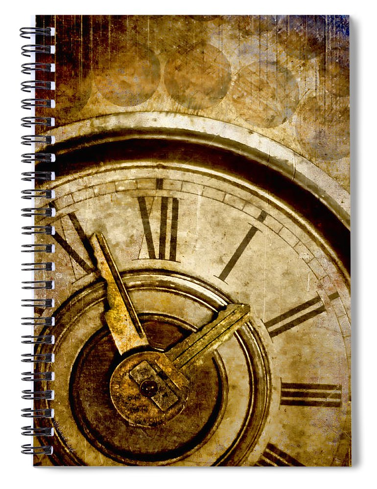 Time Spiral Notebook featuring the photograph Time Travel by Carol Leigh