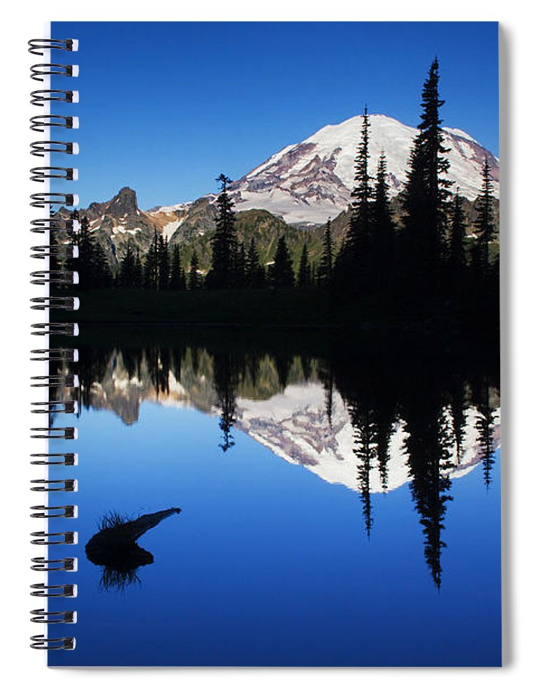 Nature Spiral Notebook featuring the photograph Tipsoo Sunrise by Mark Kiver