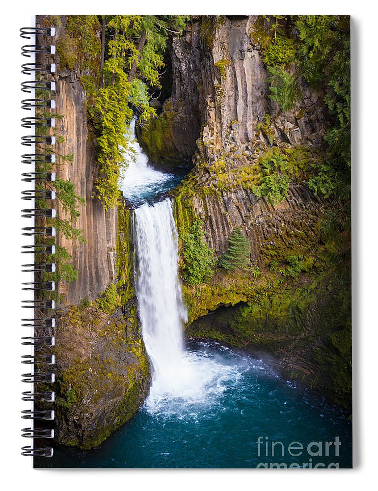 America Spiral Notebook featuring the photograph Toketee Falls by Inge Johnsson