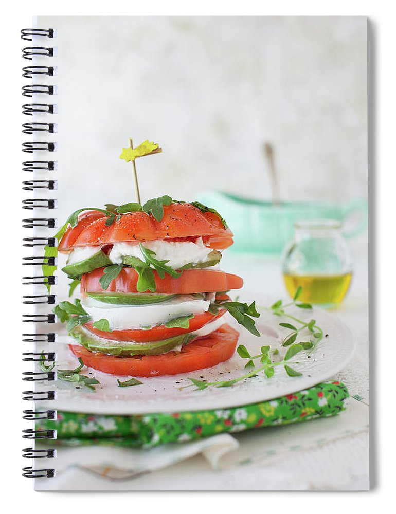 Newtown Spiral Notebook featuring the photograph Tomato Salad by Yelena Strokin