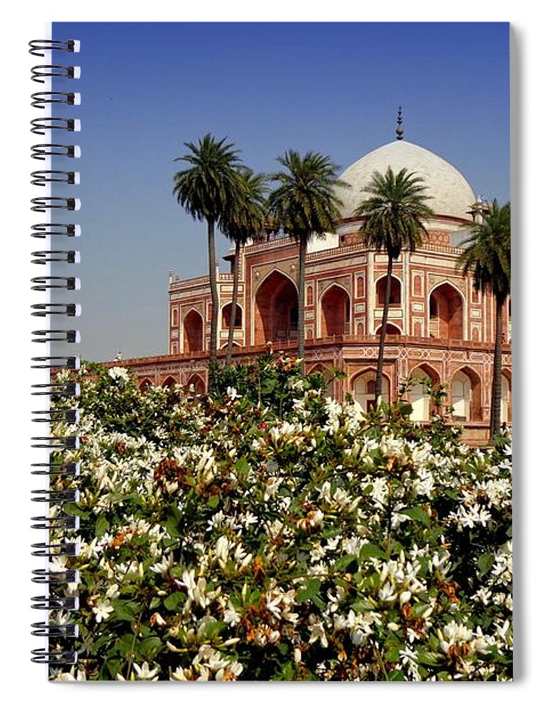 Tranquility Spiral Notebook featuring the photograph Tomb Of Humayun by Smit Sandhir