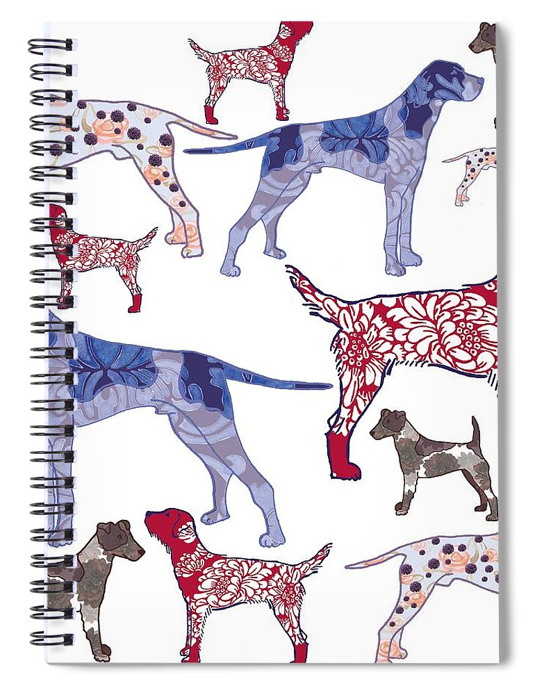 Dog Spiral Notebook featuring the digital art Top dogs by Sarah Hough