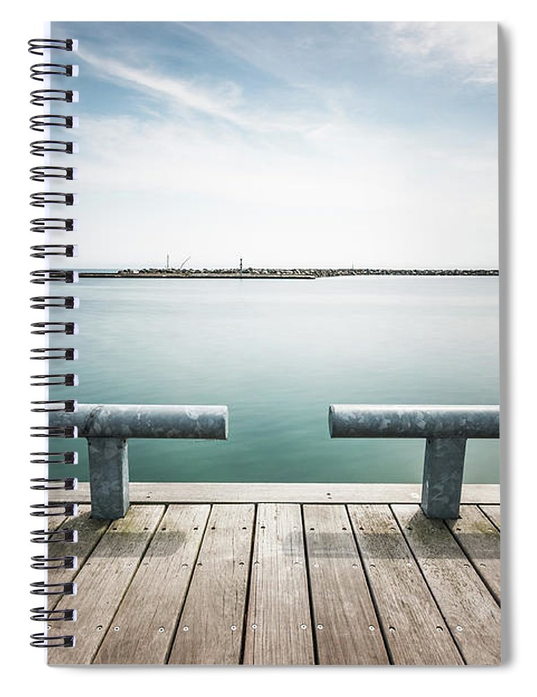 Scenics Spiral Notebook featuring the photograph Torontos Lakeside by Www.piotrhalka.com