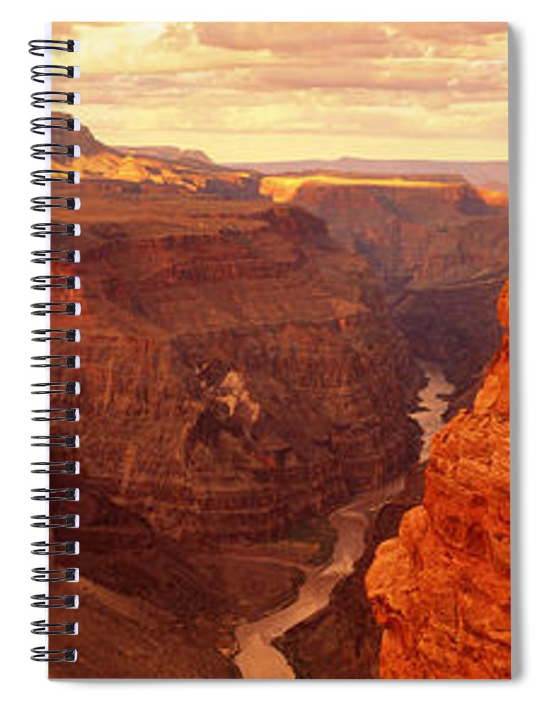 Photography Spiral Notebook featuring the photograph Toroweap Point, Grand Canyon, Arizona by Panoramic Images