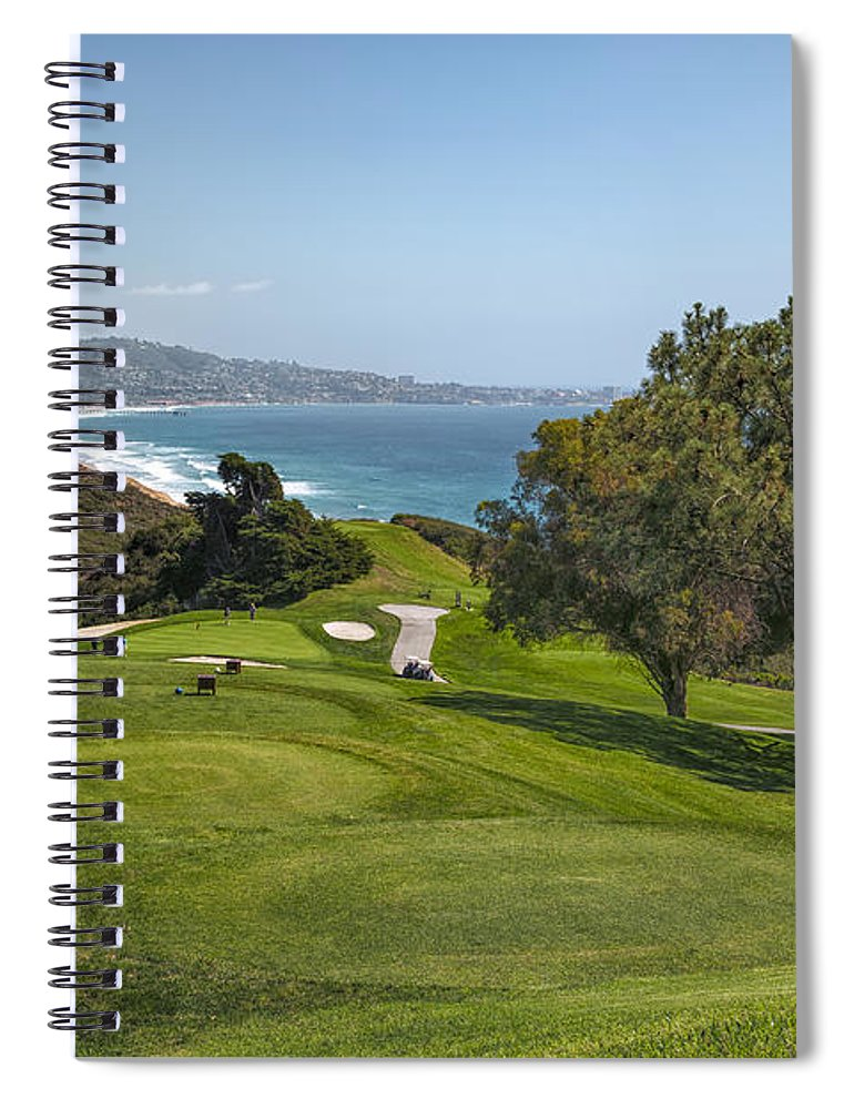 3scape Spiral Notebook featuring the photograph Torrey Pines Golf Course North 6th Hole by Adam Romanowicz