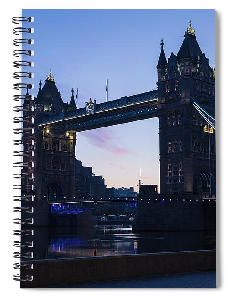 English Culture Spiral Notebook featuring the photograph Tower Of London At Dawn by P A Thompson