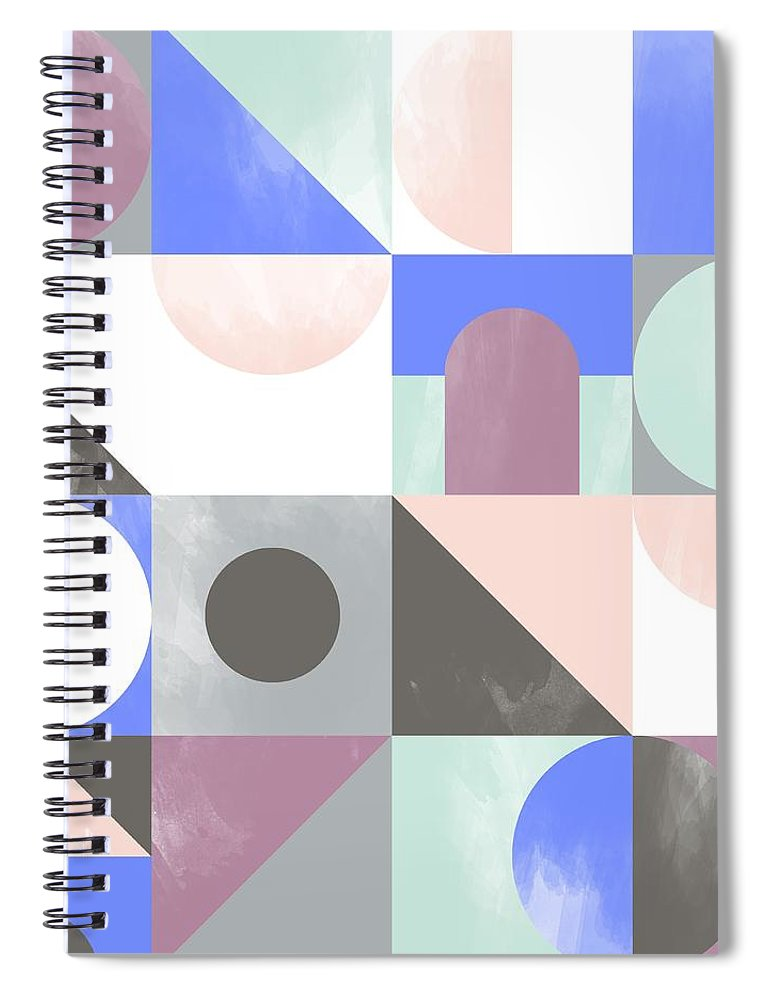 Pattern Spiral Notebook featuring the painting Toy Blocks by Laurence Lavallee