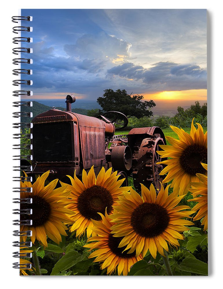 Appalachia Spiral Notebook featuring the photograph Tractor Heaven by Debra and Dave Vanderlaan