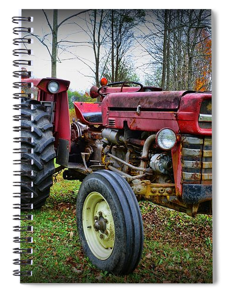 Paul Ward Spiral Notebook featuring the photograph Tractor - The Farmers Car by Paul Ward