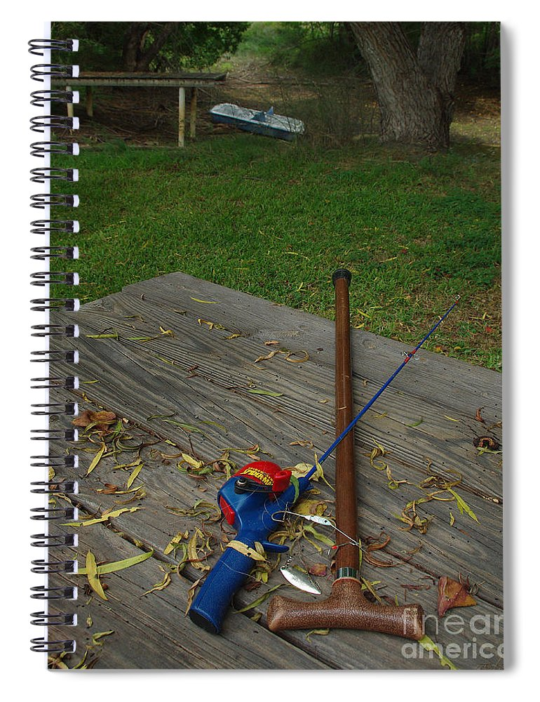 Angling Spiral Notebook featuring the photograph Traditions Of Yesterday by Peter Piatt