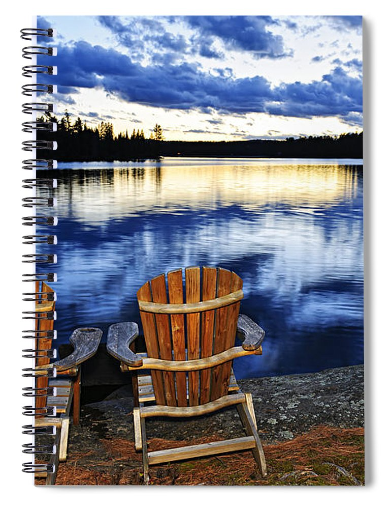 Lake Spiral Notebook featuring the photograph Tranquility by Elena Elisseeva