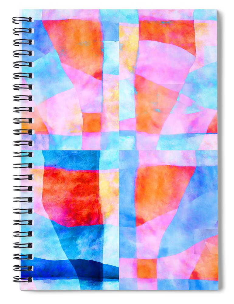 Translucent Spiral Notebook featuring the photograph Translucent Quilt by Carol Leigh