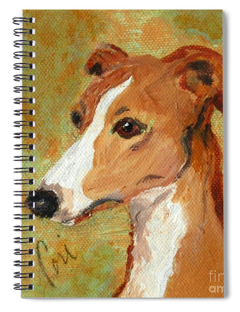 Acrylic Spiral Notebook featuring the painting Treasured Moments by Cori Solomon