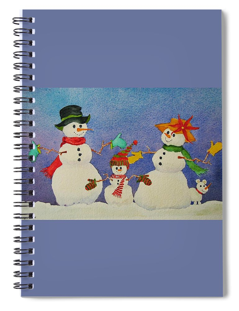 Christmas Card Spiral Notebook featuring the painting Tres Chic by Mary Ellen Mueller Legault