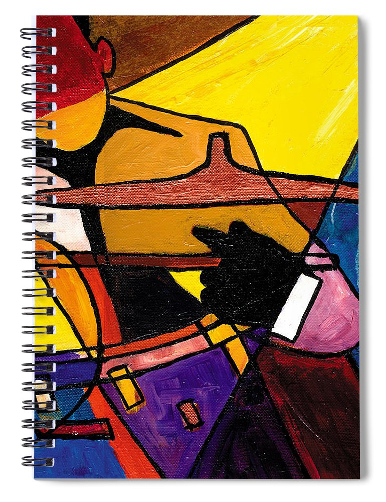 Everett Spruill Spiral Notebook featuring the painting Trip Trio 3 of 3 by Everett Spruill