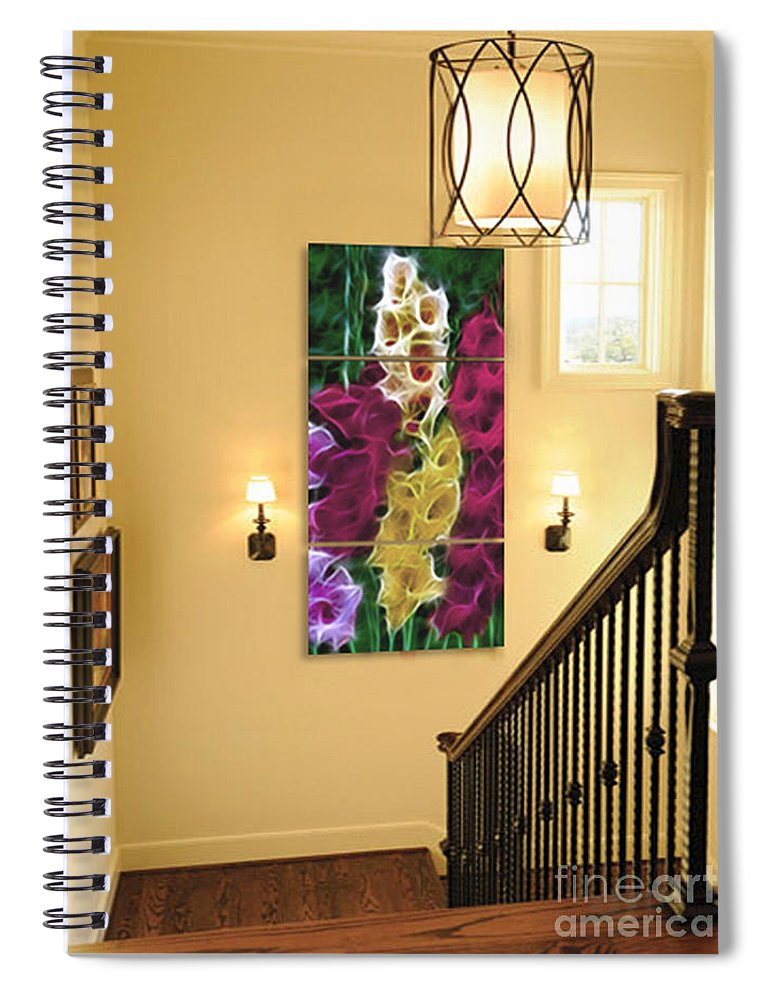 Gladiola Spiral Notebook featuring the photograph Triptych Display Sample 06 by Peter Piatt