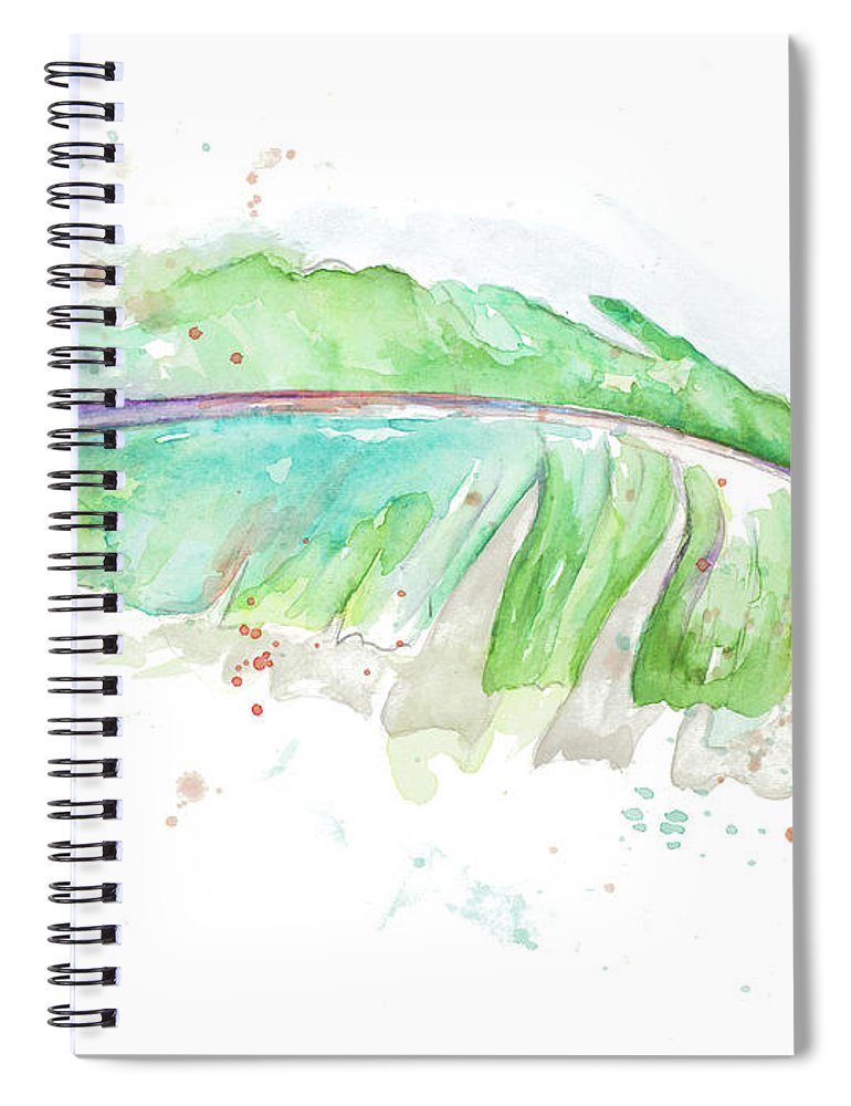 Tropical Spiral Notebook featuring the painting Tropical Banana Leaves by Patricia Pinto