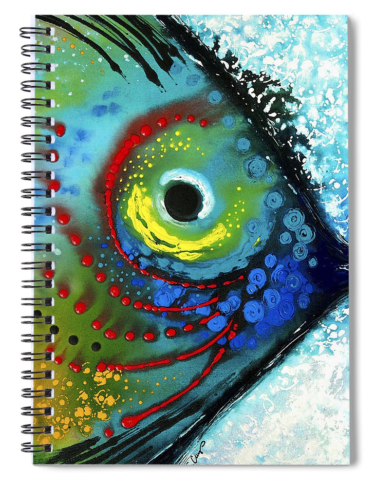 Sharon Cummings Spiral Notebook featuring the painting Tropical Fish - Art by Sharon Cummings by Sharon Cummings