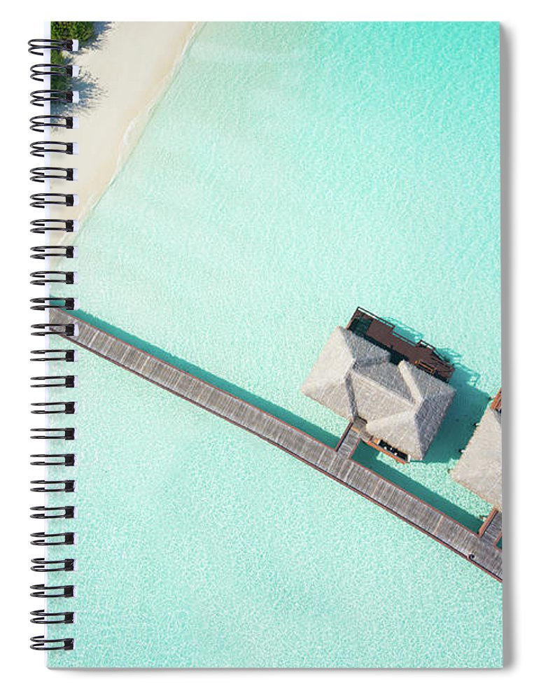 Outdoors Spiral Notebook featuring the photograph Tropical Hideaway From Above by Amriphoto