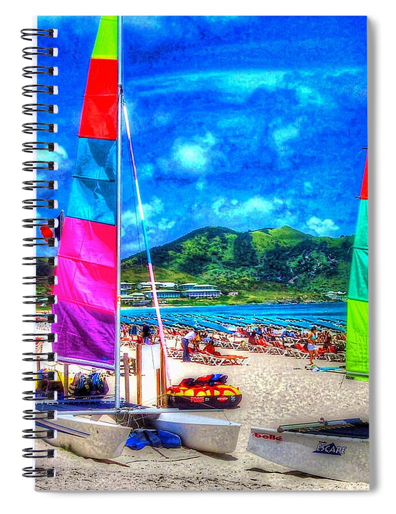 Sailboats Spiral Notebook featuring the photograph Tropical Sails by Debbi Granruth
